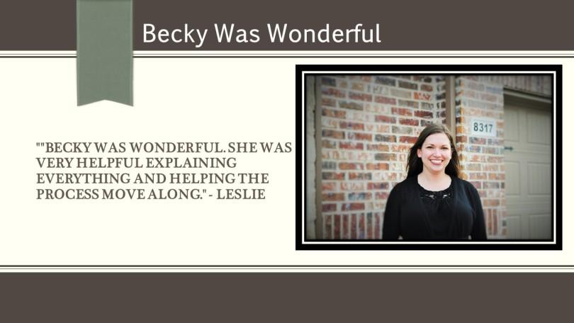 Leslie Testimonial